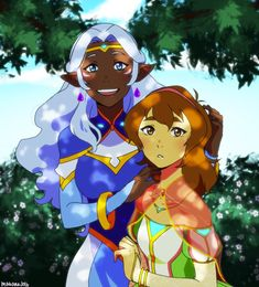 Two Princesses- Pidge/Katie Holt and Princess Allura from Voltron Legendary Defender