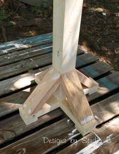 free DIY woodworking plans to build a coat rack post SANY2479