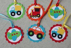 24 Transportation Favor Tags Car Truck Birthday by AngiesDesignz