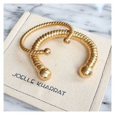 Flat twist bangles (Joelle Kharrat) shop them on Les trouvailles d'Elsa.fr