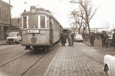 36-os villamos - Kápolna téren volt a végállomása. Háttérben a Zalka, a Kőbánya vonatállomás (alsó) Old Pictures, Old Photos, Historical Photos, Budapest, Street View, City, Landscapes, Antique Photos, Antique Photos