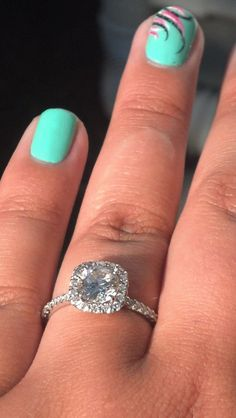 Cushion cut diamond engagement ring. Thin band. My future husband needs to find my pinterest.