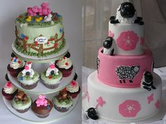 Cute cakes for shower or birthday party