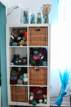 Great yarn storage idea from Steamy Kitchen Recipes