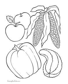 10 free thanksgiving coloring pages thanksgiving coloring pages the ojays and coloring pages - Thanksgiving Food Coloring Pages