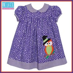#WelcomeFall Owl Applique Girls Float Dress!