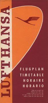 Lufthansa Timetable, 1957