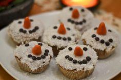 Apfel-Kokos-Schneemanncupcakes SimplyVegan.org