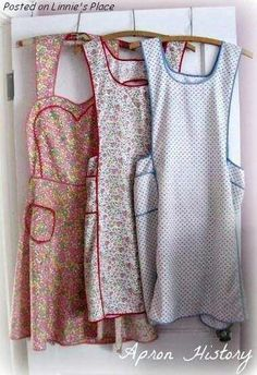 "I can remember my grandmother wearing these every day, over her dresses. They only came off when she sat down to ""relax""; that is, crocheting, embroidery or sewing."