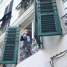 Just a coffee cup in old Genova, Italy #Italy #genova #genova #tourism #tourist #travel #italian #old #city #coffee #coffeecup #cup #tea #cupoftea #street #morning #goodmorning #man #bussinessman #window #streetphotography #streetphoto #travel #travelling