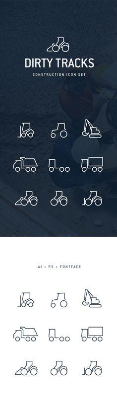Dirty-tracks-flat-icons-behance-01