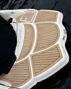 Nonskid alternatives to teak decking like so many other things in boating, come in the form of acronyms: PVC and EVA. Deck Alternatives, Decking Panels, Inflatable Island, Boating Tips, Teak Flooring, Decking Material, Boat Projects, Nautical Looks, Sailing Adventures