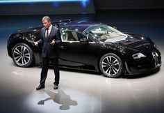 Bugatti CEO Wolfgang Schreiber introduces the new Veyron during a preview by the Volkswagen Group