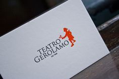 Business card and communication material for a theatre based in Milan, Teatro Gerolamo / by Tipografia Pezzini #letterpress