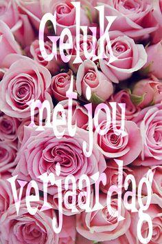 Happy Birthday Drawings, Happy Birthday Wishes, Birthday Greetings, Birthday Cards, Afrikaans Quotes, Happy B Day, Flower Cards, Birthday Quotes, Crochet Flowers