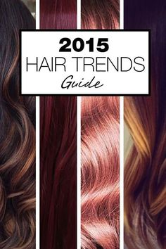 Check out Hair Color Trends! From babylights and platinum blonde to marsala and caramel browns - get your latest hair color ideas and hair color formulas here! Love the Marsala! 2015 Hair Color Trends, Hair Trends, Colour Trends, 2015 Trends, 2015 Hairstyles, Pretty Hairstyles, Medium Hairstyles, Wedding Hairstyles, Love Hair