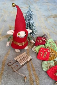 crochet Advent elfs calendar Advent, Calendar, Christmas Ornaments, Holiday Decor, Crochet, Home Decor, Decoration Home, Room Decor, Christmas Jewelry