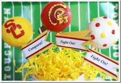 Festive USC Cake Pops for your tailgate, or just for fun!
