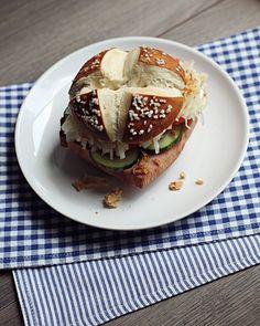 Burger mal anders: Leberkäs-Burger