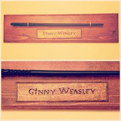 Custom-made display for my Ginny Weasley wand from Wizarding World of Harry Potter ⚡️