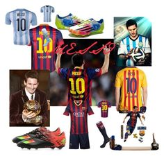 """Lionel Messi"" by apple-unofficial ❤ liked on Polyvore featuring NIKE, adidas and SAWA"