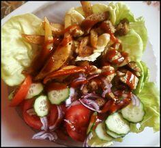 Gyros tál házilag a legjobb Cobb Salad, Hamburger, Food, Essen, Burgers, Meals, Yemek, Eten