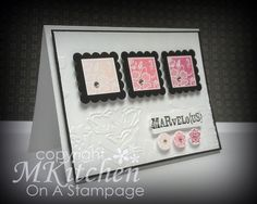 On A Stampage...: MMM: Pink & Black