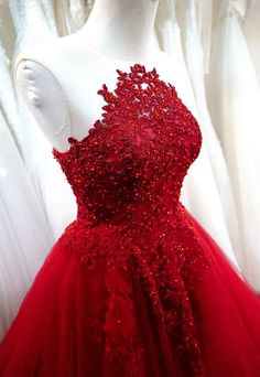 Robe de mariée a-ligne de rose / rouge robe de par LeCasaDress