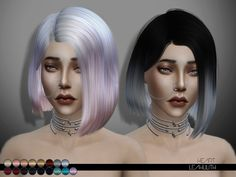 Heart hair by LeahLilith at TSR • Sims 4 Updates