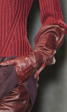 gloved fashion in details
