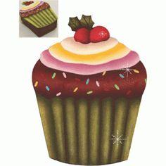 Caixa Cupcake cereja