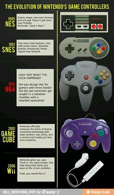 Evolution of NES controllers