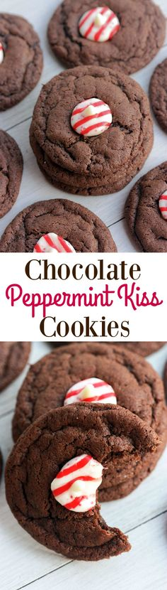 Soft and chewy Chocolate Peppermint Kiss Cookies | Tastes Better from Scratch