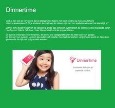 Dinnertime: app voor gezinnen met vastgeplakte telefoons.