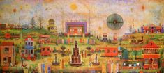 Arnold Gross - The highway of familiarity Jpg, Fairy Land, Islamic Art, Folk Art, Mosaic, Sculptures, Artsy, Drawings, Paintings