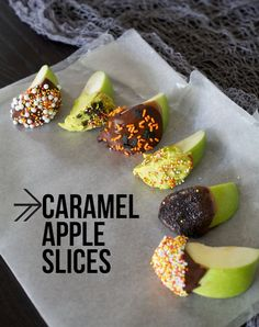 Caramel Apple Slices: way easier to eat than a whole caramel apple