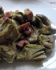 LA COCINA DE MAMI: ALCACHOFAS REHOGADAS Spanish Recipes, Spanish Food, Beef, Chicken, Recipes With Vegetables, Entrees, Meat, Ox, Ground Beef