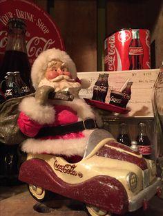 Kurt Adler Coca Cola Santa Claus in Coke car