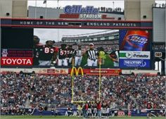 Gillette Stadium is Golden with it's McDonald's Signage.