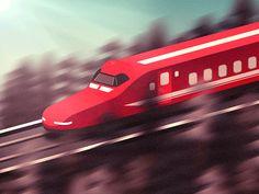 Bullet Train  by Chloe Jackson #Design Popular #Dribbble #shots