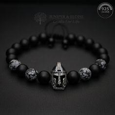 Mens Gift Bracelet, 925 Silver Helmet charm Bracelet, Gladiator Bracelet, Valentine's Day Gift, Elder Scrolls Warrior Bracelet by JuniperandEloise on Etsy
