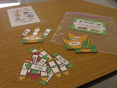 If you turn these into playing cards the kids could play Go Fish or Memory thus making it more fun at the same time they would be helping each other learn the ones they may not yet know - First Grade Garden: Math Stations - Set 1 Math Classroom, Kindergarten Math, Teaching Math, Teaching Ideas, Classroom Ideas, Preschool, Math Literacy, Teaching Tools, Fun Math