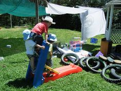 let the children play: loose parts = imagination + creativity