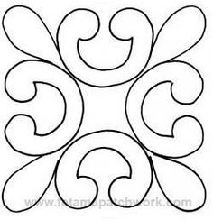 Trendy Design To Draw Zentangle Tangle Doodle 29 Ideas Quilting Stencils, Quilting Templates, Machine Quilting Designs, Stencil Patterns, Stencil Designs, Longarm Quilting, Mosaic Patterns, Applique Patterns, Free Motion Quilting