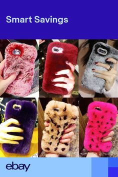 competitive price 117a7 3a01e Cases & Covers Luxury Fashion Soft Fluffy Fur Warm Cute Diamond Case ...