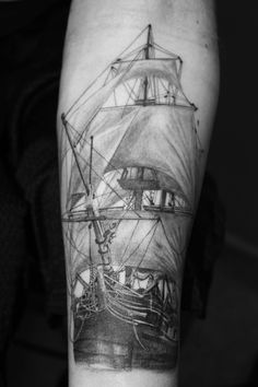 pirate ship. Ink Rider Tattoo...Trying to get something along these lines