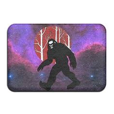 Soft Non-slip Bigfoot Taking A Stroll In The Woods Bath Mat Coral Fleece Area Rug Door Mat Entrance Rug Floor Mats Entrance Mats, Wood Bath, Bigfoot, Floor Rugs, Bath Mat, Woods, Area Rugs, Take That, Coral