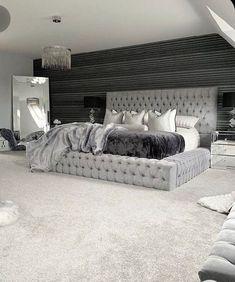 Room Ideas Bedroom, Home Room Design, Master Bedroom Design, Modern Bedroom, Interior Design Living Room, Diy Bedroom Decor, Bedroom Furniture, Home Decor, King Bedroom