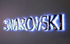 LED Backlit Signs With Mirror Polished Stainless Steel Letter Shell & Thickness Acrylic Back-panel For Swarovski Backlit Signage, Wayfinding Signage, Signage Design, Light Letters, Diy Letters, Custom Business Signs, Led Logo, Blue Led Lights, Wall Accessories
