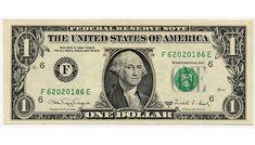 $1.00 Dollar Bill .